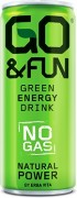 GO&FUN Green Energy Drink 330ml nesycený