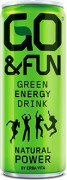 GO&FUN Green Energy Drink 250ml sycený